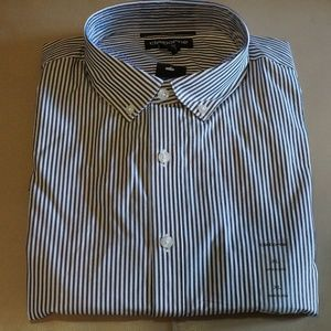 Claiborne - Slim-Fit Shirt (Grey Stripes)